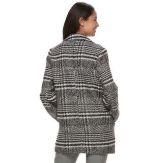 Juniors' J-2 Plaid Wool Trench Coat