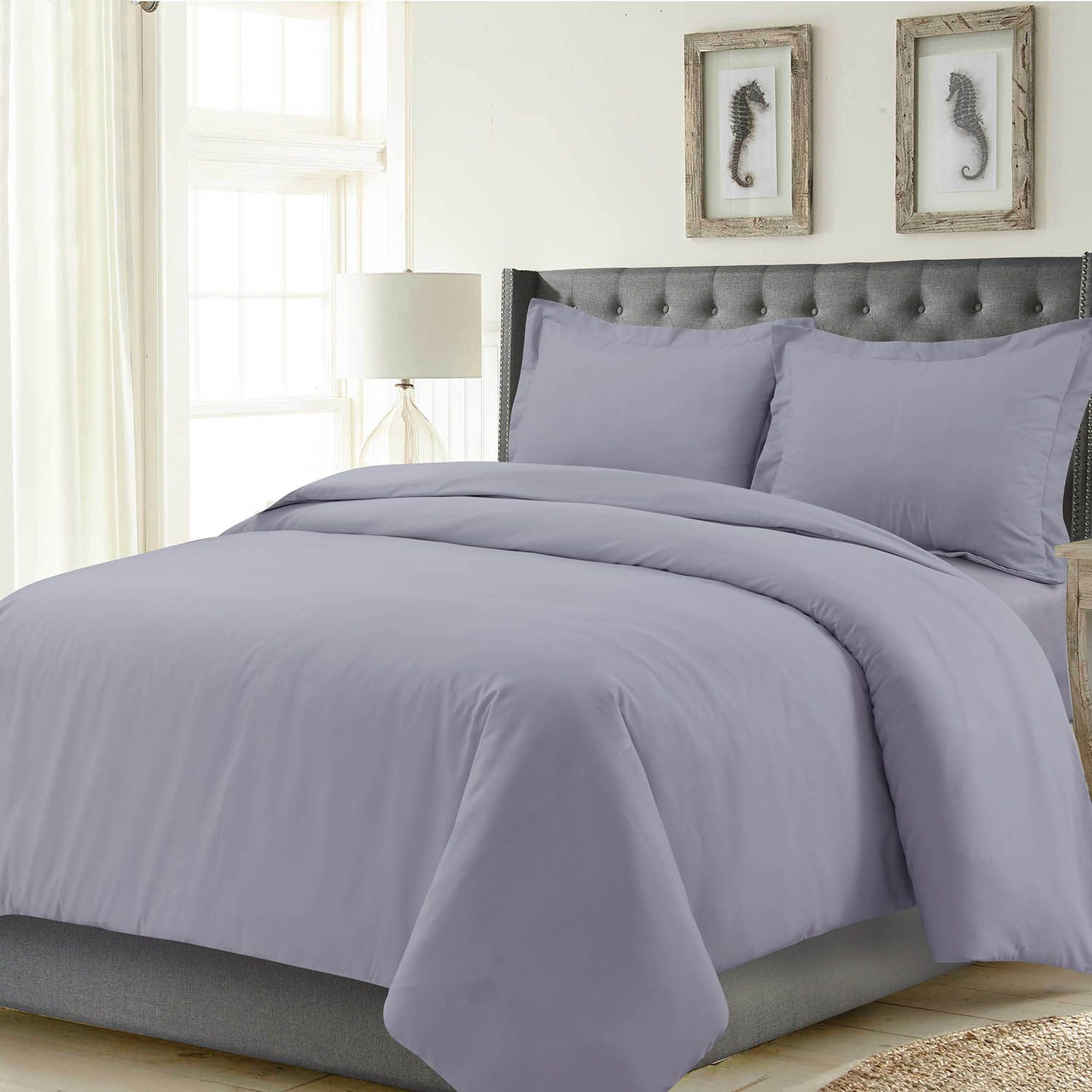 Madrid Solid Oversized Duvet Cover Set