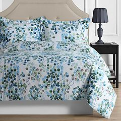 Madrid Printed Leaves Oversized Duvet Cover Set