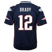 Boys 8-20 New EnglandPatriots Tom Brady Super Bowl LII Jersey