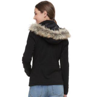 Juniors' J-2 Faux-Fur Hood Fleece Jacket