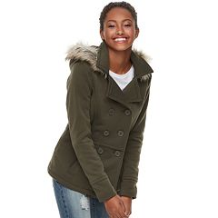 Juniors' J-2 Faux-Fur Hood Fleece Jacket