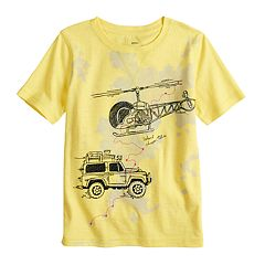Boys 4-7x SONOMA Goods for Life™ Embroidered Helicopter & Jeep Car Graphic Tee