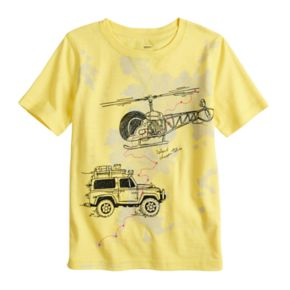 Boys 4-7x SONOMA Goods for Life? Embroidered Helicopter & Jeep Car Graphic Tee