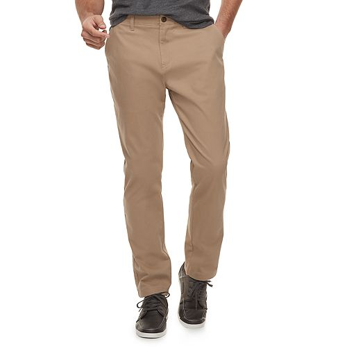 Men's Sonoma Goods For Life™ Modern Fit Athletic Stretch Twill Chino Pants by Sonoma Goods For Life