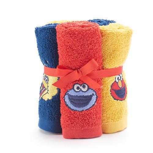 Sesame Street 6-pack Washcloth Set