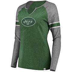 Women's Majestic New York Jets Static Varsity Tee
