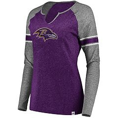 Women's Majestic Baltimore Ravens Static Varsity Tee