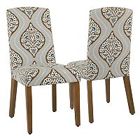 HomePop Curved Back Dining Chair 2 pc Set
