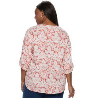 Plus Size Cathy Daniels Floral Top