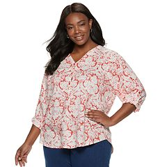 Plus Size Cathy Daniels Floral Top