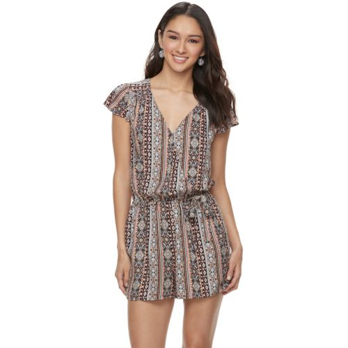 Juniors' Joe B Lace Wrap Romper by Kohl's