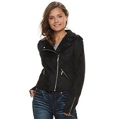 Juniors' J-2 Faux-Suede Moto Jacket