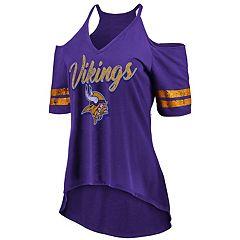 Women's Minnesota Vikings Gameday Cold-Shoulder Tee