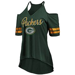 Women's Green Bay Packers Gameday Cold-Shoulder Tee