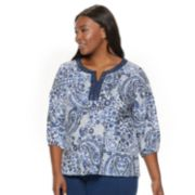 Plus Size Cathy Daniels Printed Top