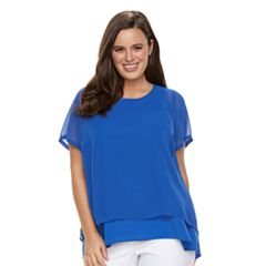 Plus Size Dana Buchman Layered Top