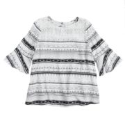 Girls 7-16 & Plus Size Mudd® Bell Sleeve Lace Yoke Top