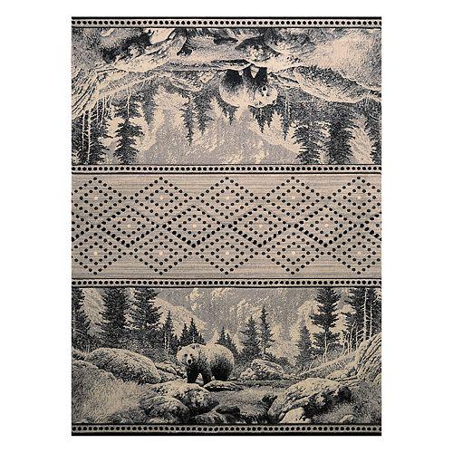 United Weavers Designer Contours Cem Sedona Bear Rug