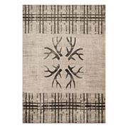 United Weavers Designer Contours Made True Antlers & Stripes Rug