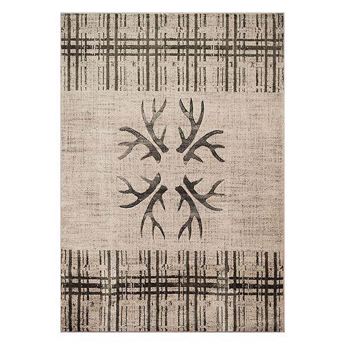 United Weavers Designer Contours Made True Antlers & Stripes Rug