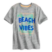 "Boys 4-7x SONOMA Goods for Life? ""Beach Vibes"" Velour Palm Trees Graphic Tee"