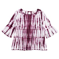Girls 7-16 & Plus Size Mudd® Bell Sleeve Challis Top