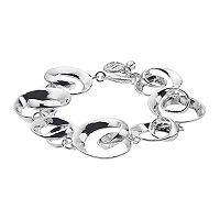 Dana Buchman Polished Swirl Link Bracelet
