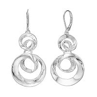 Dana Buchman Silver Plated Swirl Drop Earrings