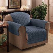 Jeffrey Home Solid Microfiber Chair Furniture Cover Slipcover