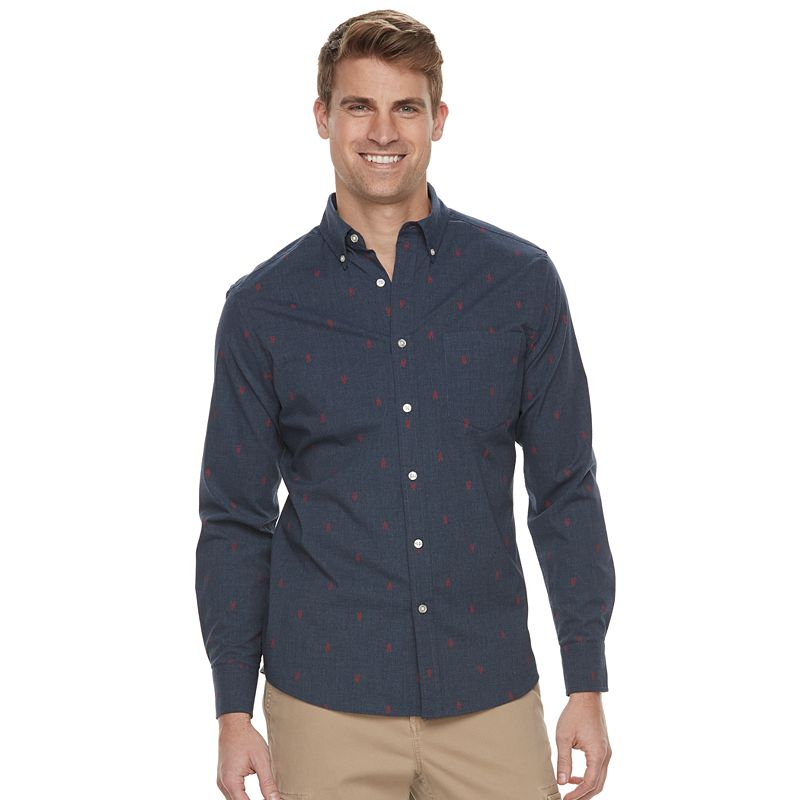 "8f895b30e02d95 Men's SONOMA Goods for Lifeâ""¢ Modern-Fit Poplin Button-Down Shirt, Size:  Large ..."