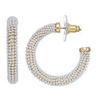 Dana Buchman Wrapped Hoop Earrings