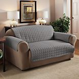 Jeffrey Home Solid Microfiber Loveseat Furniture Cover Slipcover