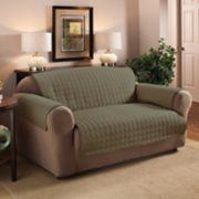 Jeffrey Home Solid Microfiber Loveseat Furniture Cover Slipcover