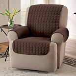 Jeffrey Home Solid Microfiber Furniture Recliner/Wing Chair Slipcover