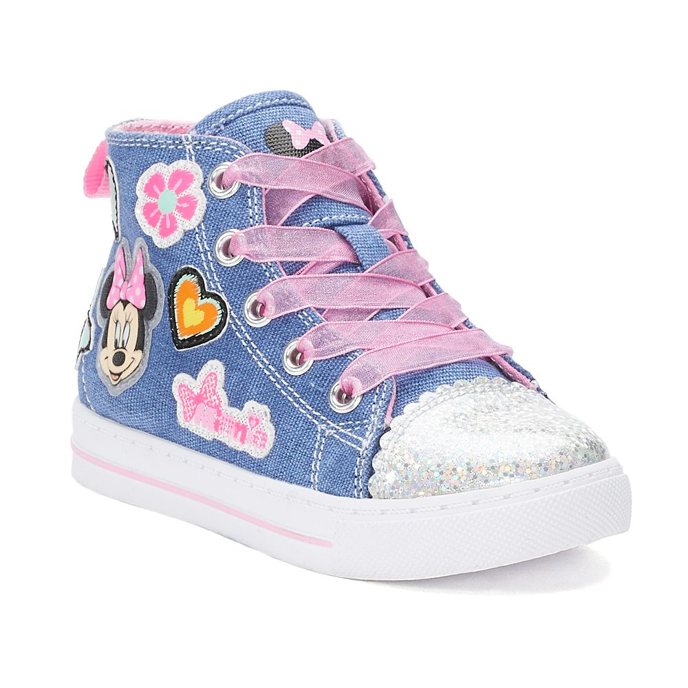Disney's Minnie Mouse Toddler Girls' High Top Sneakers