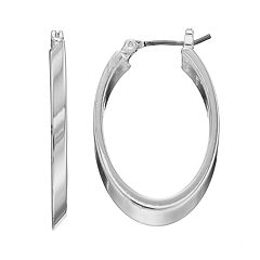 Dana Buchman Polished Oval Hoop Earrings