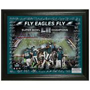 Highland Mint Philadelphia Eagles Super Bowl LII Champions Signature Framed Photo