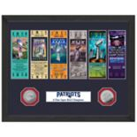 Highland Mint New England Patriots Super Bowl LII Champions Ticket Collection Framed Photo