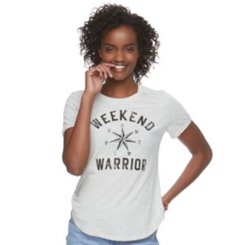 "Juniors' Modern Lux ""Weekend Warrior"" Graphic Tee"