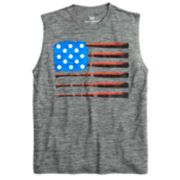 Boys 8-20 Tek Gear® American Flag Baseball Muscle Tee