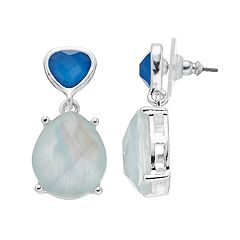 Dana Buchman Blue Simulated Crystal Teardrop