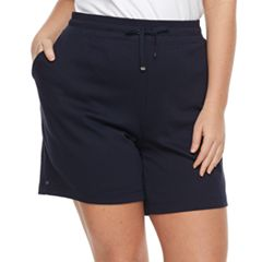Plus Size Croft & Barrow® Knit Berumda Shorts