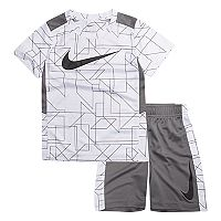 Boys 4-7 Nike Legacy Swoosh Abstract Top & Shorts Set