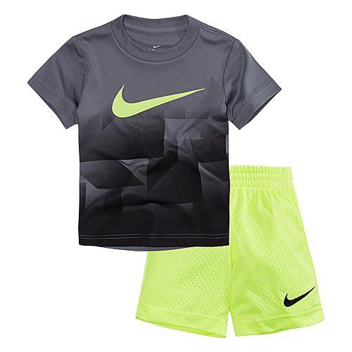 Boys 4-7 Nike Geometric Graphic Tee & Shorts Set