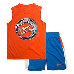 Boys 4-7 Nike Baseball Logo Muscle Tee & Shorts Set