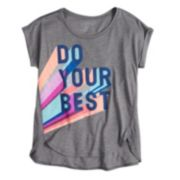Girls 7-16 SO® Easy Roll Cuff Graphic Tee