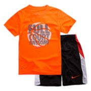 "Boys 4-7 Nike ""Full Court Awesome"" Graphic Tee & Shorts Set"