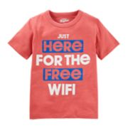 "Boys 4-8 OshKosh B'gosh® ""Just Here For The Free Wi-Fi"" Graphic Tee"