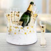 Artland 7-piece Stars Champagne Glass & Bucket Set